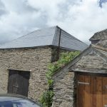 Barn Roofed In Grp Slate Tile  Roofing