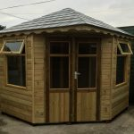 Summerhouse Corner Unit with Grp Slate Tile Roof