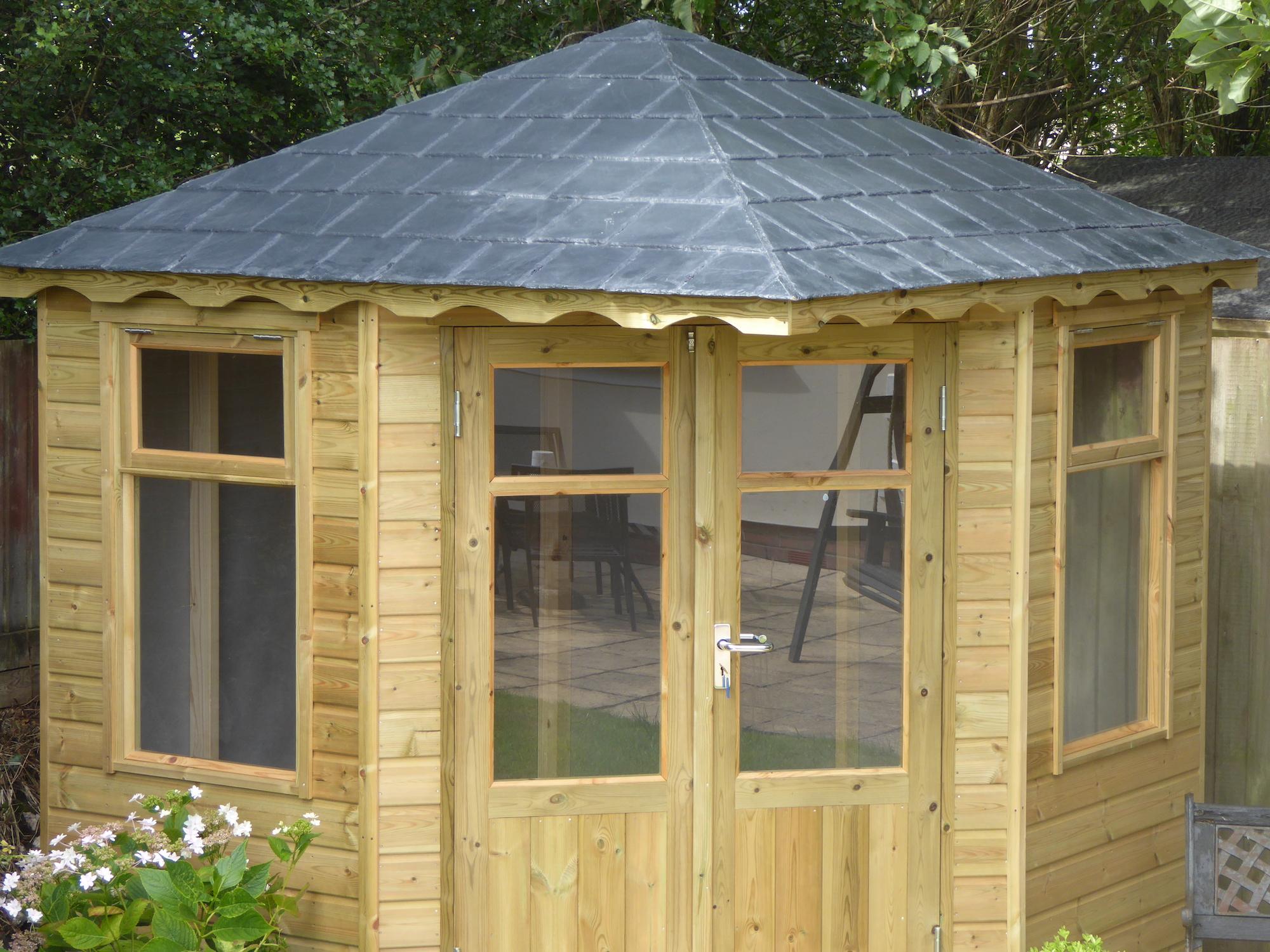 Fibreglass Slate Tile Roof On A Garden Building Shapes Grp