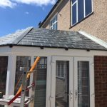 Spanish slate tile roof in Grp