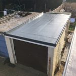 Grp Flat Roofing Sheets On Garage Roof