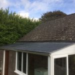 Lean To Roof With Fibreglass Slate Tile Roof