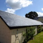 Fibreglass slate tile stable roof