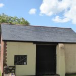 Grp slate tile barn roof