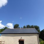 Grp spanish slate tile barn roof