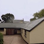 Stables roofed with Grp slate tile roofing roof