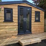 Garden Office Building With Grp Slate Tile Roof